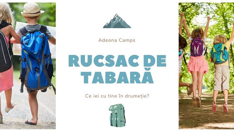 Tabara pentru elevi in natura Rucsac de munte